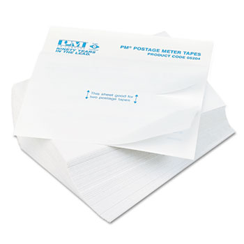 PM Company® Postage Meter Double Tape Sheets, 4 x 5-1/2, 300/Pack