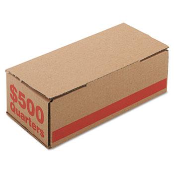 PM Company® Corrugated Cardboard Coin Storage w/Denomination Printed On Side, Orange