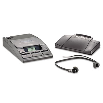 Philips® 720-T Desktop Analog Mini Cassette Transcriber Dictation System w/Foot Control