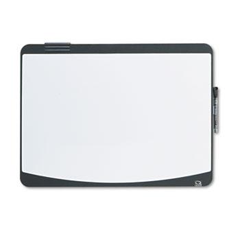 Quartet® Tack & Write Board, 23 1/2 x 17 1/2, Black/White Surface, Black Frame