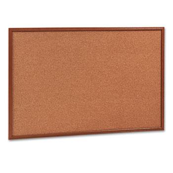 Mead® Cork Bulletin Board, 36 x 24, Oak Frame
