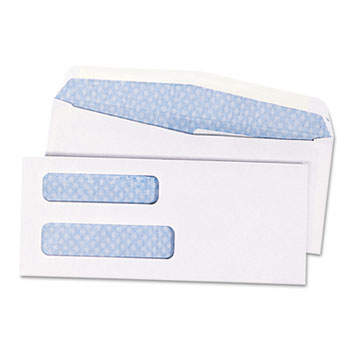 Double Window Security Tinted Check Envelope, #8 5/8, White, 1000/Box