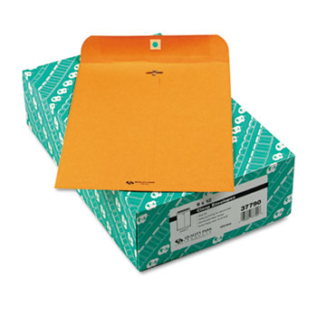 Quality Park™ Clasp Envelope, 9 x 12, 32lb, Brown Kraft, 100/Box