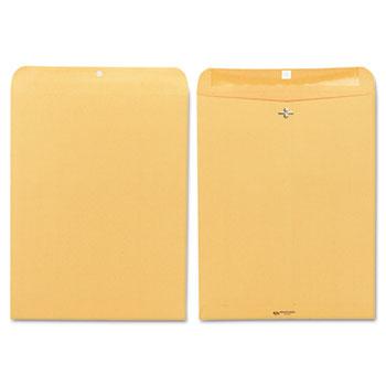 """12 x 15 1/2"""" Clasp Envelopes, 28 lb. Brown Kraft, 100/BX"""