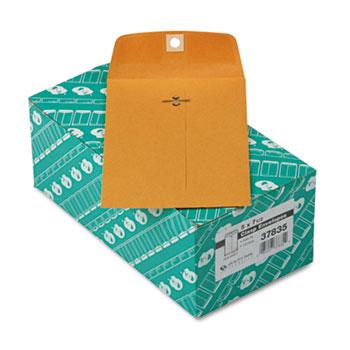 Quality Park™ Clasp Envelope, 5 x 7 1/2, 28lb, Brown Kraft, 100/Box