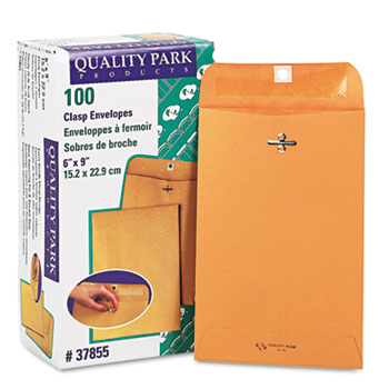 Clasp Envelope, 6 x 9, 28lb, Brown Kraft, 100/Box