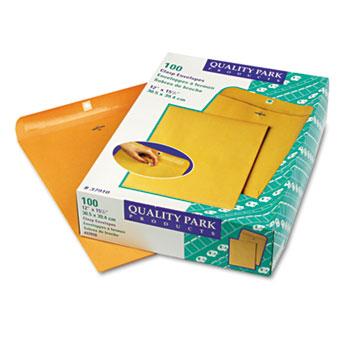Clasp Envelope, 12 x 15 1/2, 28lb, Brown Kraft, 100/Box