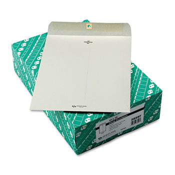 Clasp Envelope, 10 x 13, 28lb, Executive Gray, 100/Box