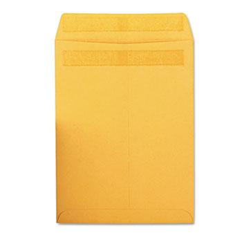 Quality Park™ Redi-Seal Catalog Envelope, 9 x 12, Brown Kraft, 100/Box