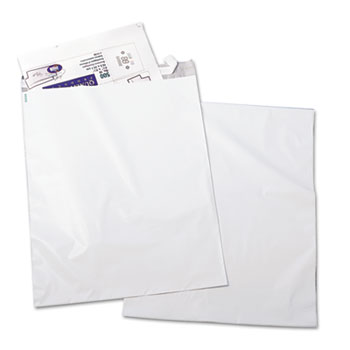 Quality Park™ Redi-Strip Poly Mailer, Side Seam, 14 x 19, White, 100/Pack