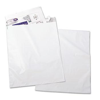 Quality Park™ Redi-Strip Poly Mailer, Side Seam, 14 x 19, White, 100/Pack