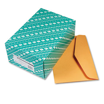 Quality Park™ Open Side Booklet Envelope, Traditional, 15 x 10, Brown Kraft, 100/Box