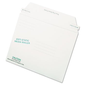 Quality Park™ Antistatic Fiberboard Disk Mailer, 6 x 8 5/8, White, Recycled, 25/BX