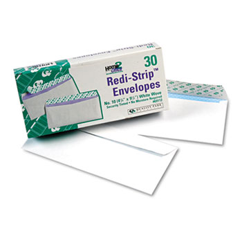 Redi-Strip Security Tinted Envelope, Contemporary, #10, White, 30/Box