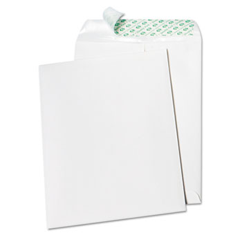 Tech-No-Tear Catalog Envelope, Poly Lining, Side Seam, 9 x 12, White, 100/Box