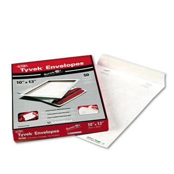 Survivor® Tyvek Mailer, Side Seam, 10 x 13, White, 50/Box