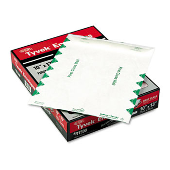 Tyvek USPS First Class Mailer, Side Seam, 10 x 13, White, 100/Box