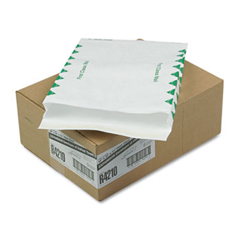 Survivor® Tyvek Expansion Mailer, First Class, 10 x 13 x 1 1/2, White, 18lb, 100/Carton