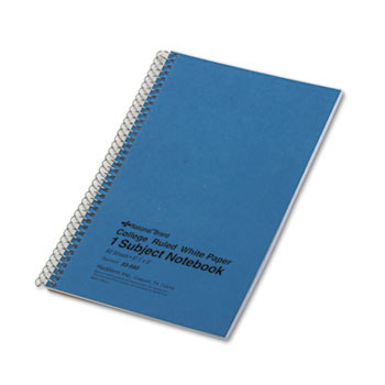 National® Subject Wirebound Notebook, College Rule, 6 x 9 1/2, White, 80 Sheets
