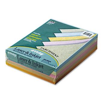 Pacon® Array Colored Bond Paper, 24lb, 8-1/2 x 11, Assorted Parchment, 500 Sheets/Ream