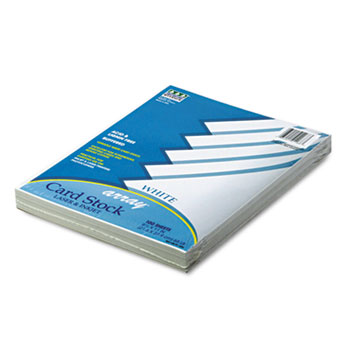 Pacon® Array Card Stock, 65 lb., Letter, White, 100 Sheets/Pack