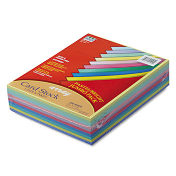 Pacon® Array Card Stock, 65 lb., Letter, Assorted Colors, 250 Sheets/Pack