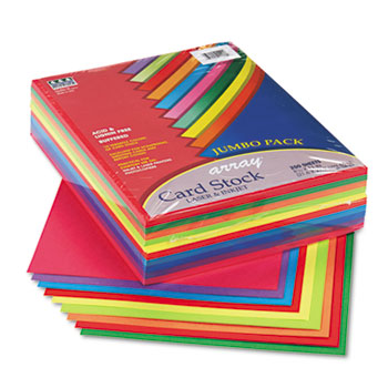 Pacon® Array Card Stock, 65 lb., Letter, Assorted Lively Colors, 250 Sheets/Pack