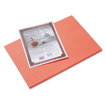 Pacon® Riverside Construction Paper, 76 lbs., 12 x 18, Orange, 50 Sheets/Pack