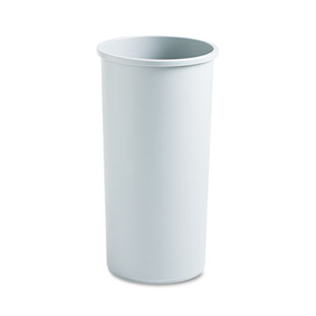 Rubbermaid® Commercial Untouchable Waste Container, Round, Plastic, 22gal, Gray