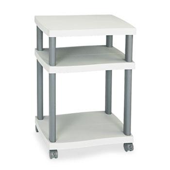 Safco® Wave Design Printer Stand, Three-Shelf, 20w x 17-1/2d x 29-1/4h, Charcoal Gray