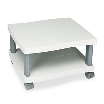 Safco® Wave Design Printer Stand, Two-Shelf, 20w x 17-1/2d x 11-1/2h, Charcoal Gray
