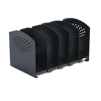 Safco® Five-Section Adjustable Book Rack, Steel, 15 1/4 x 9 x 9 1/4, Black