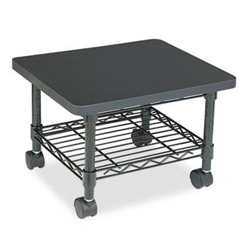 Safco® Underdesk Printer/Fax Stand, One-Shelf, 19w x 16d x 13-1/2h, Black