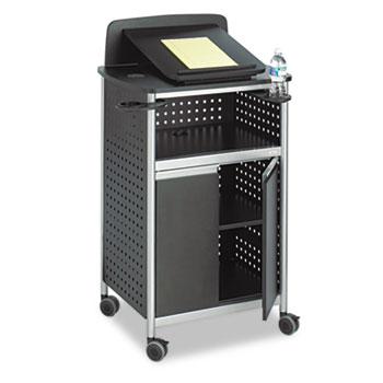 Safco® Scoot Multipurpose Lectern, 28-3/4w x 22d x 49-3/4h, Black/Silver