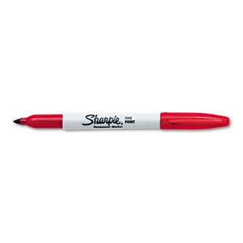Permanent Marker, Fine Point, Red