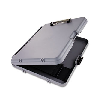"""Saunders WorkMate Storage Clipboard, 1/2"""" Capacity, Holds 8 1/2w x 12h, Charcoal/Gray"""