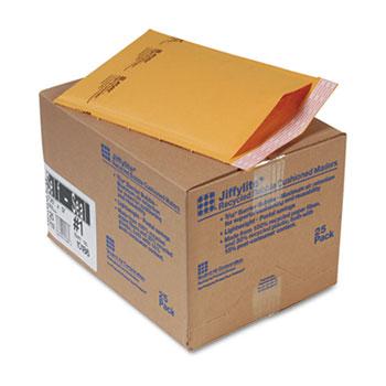 Sealed Air Jiffylite Self-Seal Mailer, Side Seam, #1, 7 1/4 x 12, Golden Brown, 25/Carton