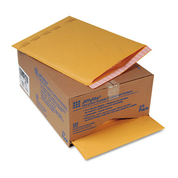 Sealed Air Jiffylite Self-Seal Mailer, Side Seam, #7, 14 1/4 x 20, Golden Brown, 25/Carton