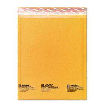 Jiffylite Self-Seal Mailer, Side Seam, #2, 8 1/2 x 12, Golden Brown, 10/Pack