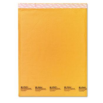 Sealed Air Jiffylite Self-Seal Mailer, Side Seam, #7, 14 1/2 x 20, Golden Brown, 10/Pack