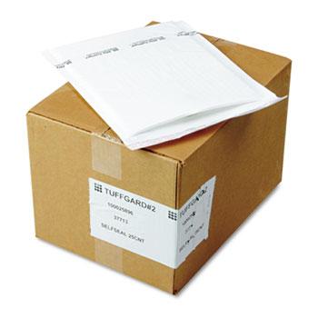 Jiffy TuffGard Self-Seal Cushioned Mailer, #2, 8 1/2 x 12, White, 25/Carton