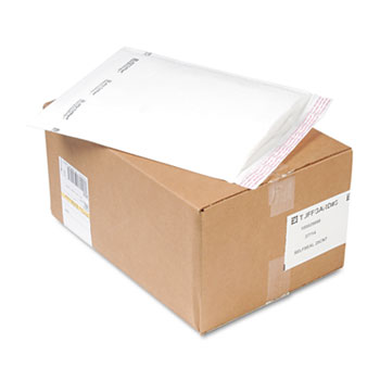 Sealed Air Jiffy TuffGard Self-Seal Cushioned Mailer, #5, 10 1/2 x 16, White, 25/Carton