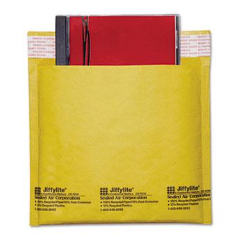 Jiffylite CD/DVD Self-Seal Mailer, Side Seam, 7 1/4 x 8, Light Brown, 25/Carton