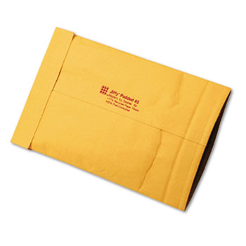 Sealed Air Jiffy Padded Mailer, Side Seam, #0, 6 x 10, Golden Brown, 250/Carton