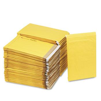 Sealed Air Jiffy Padded Self-Seal Mailer, Side Seam, #5, 10 1/2x16, GoldBrown, 100/Carton