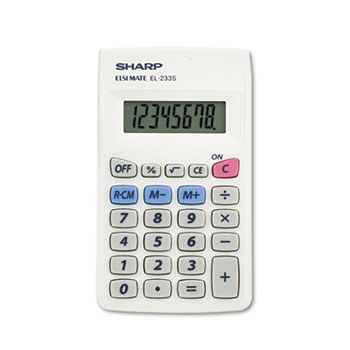 Sharp® EL233SB Pocket Calculator, 8-Digit LCD
