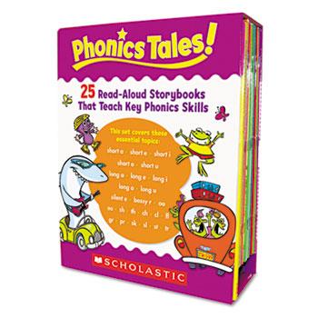Scholastic Phonics Tales Read-Aloud Storybooks, 25 Books, Grades K-2