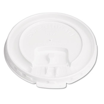 SOLO® Cup Company Lift Back & Lock Tab Cup Lids for Foam Cups, For SLOX8J, White, 2000/Carton