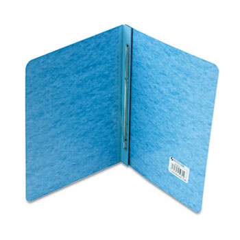 """ACCO® Pressboard Report Cover, Prong Clip, Letter, 3"""" Capacity, Light Blue"""