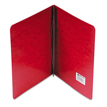 """ACCO® Pressboard Report Cover, Prong Clip, Letter, 3"""" Capacity, Red"""